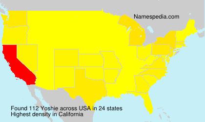 Surname Yoshie in USA