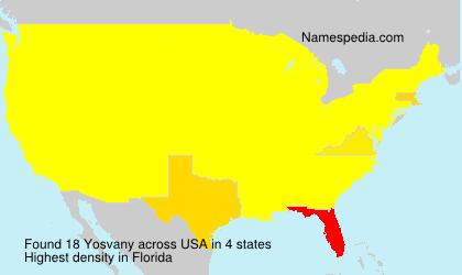 Surname Yosvany in USA