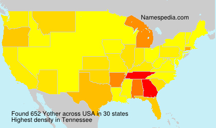 Surname Yother in USA
