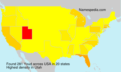 Surname Youd in USA