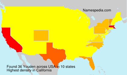 Familiennamen Youden - USA
