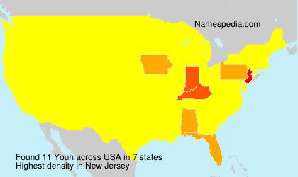 Familiennamen Youh - USA