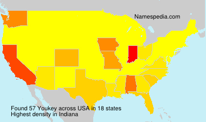 Surname Youkey in USA