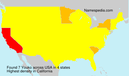 Surname Youko in USA