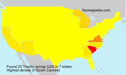 Surname Yourko in USA