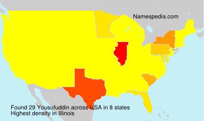 Surname Yousufuddin in USA