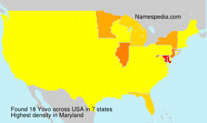 Surname Yovo in USA