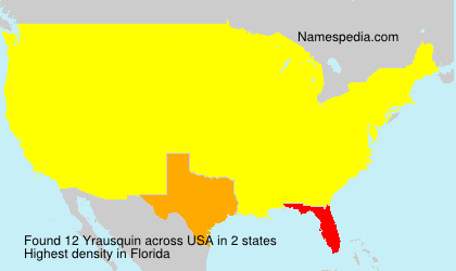 Surname Yrausquin in USA