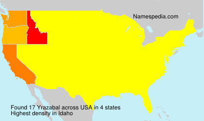 Surname Yrazabal in USA