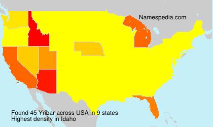 Surname Yribar in USA