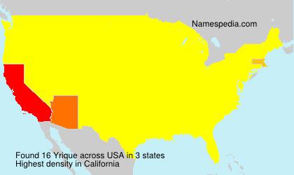 Surname Yrique in USA