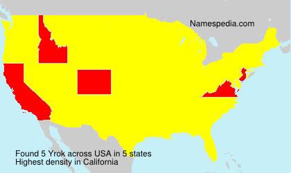 Surname Yrok in USA