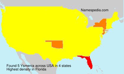 Surname Ysmenia in USA
