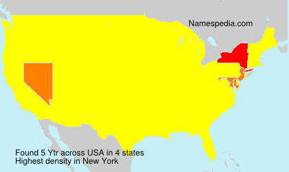 Surname Ytr in USA
