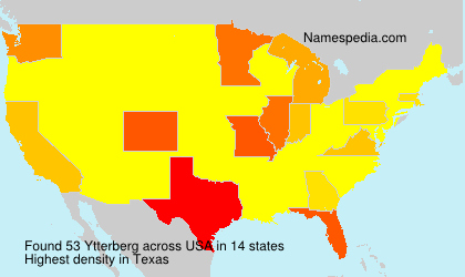 Surname Ytterberg in USA