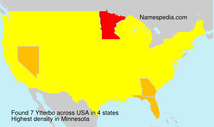 Surname Ytterbo in USA