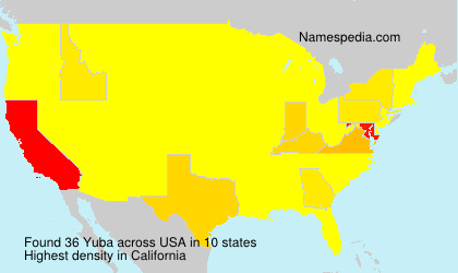 Surname Yuba in USA
