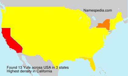 Surname Yufe in USA