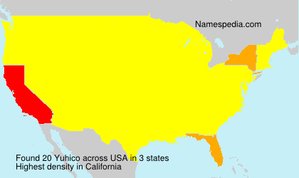 Surname Yuhico in USA