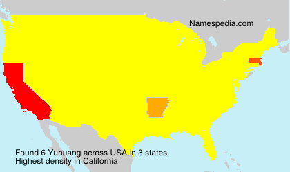 Surname Yuhuang in USA