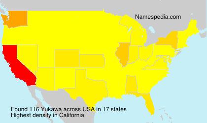 Surname Yukawa in USA