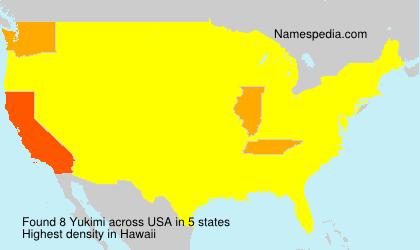 Familiennamen Yukimi - USA