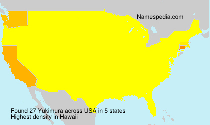 Surname Yukimura in USA
