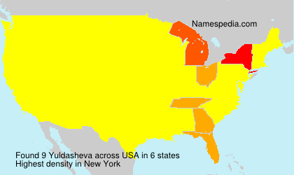 Surname Yuldasheva in USA