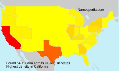 Familiennamen Yuliana - USA