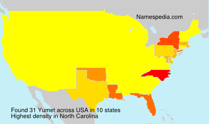 Surname Yumet in USA