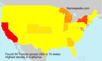 Surname Yumoto in USA