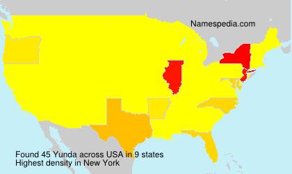 Familiennamen Yunda - USA