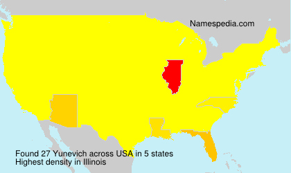 Surname Yunevich in USA