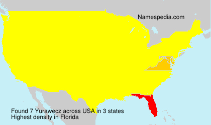 Surname Yurawecz in USA