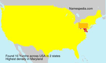 Surname Yurche in USA