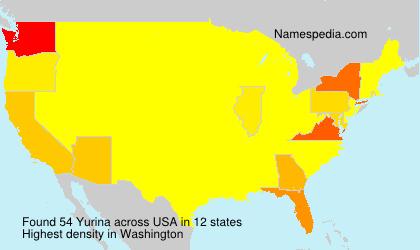 Familiennamen Yurina - USA