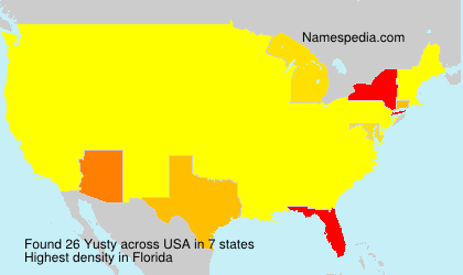 Surname Yusty in USA