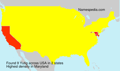 Surname Yutig in USA