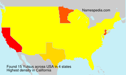 Surname Yutsus in USA