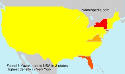 Surname Yuzak in USA