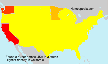 Surname Yuzer in USA
