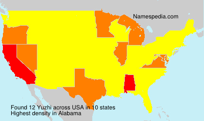 Surname Yuzhi in USA