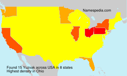 Surname Yuzvak in USA