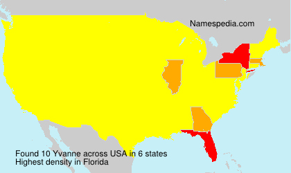 Surname Yvanne in USA