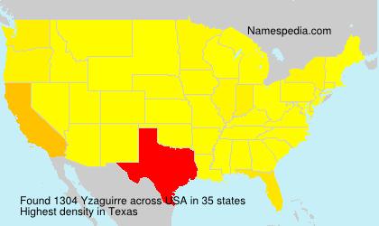 Familiennamen Yzaguirre - USA
