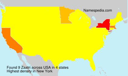 Surname Zaatri in USA