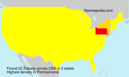 Surname Zabady in USA
