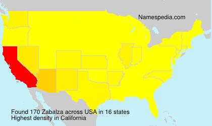 Surname Zabalza in USA