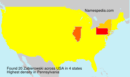 Familiennamen Zabierowski - USA
