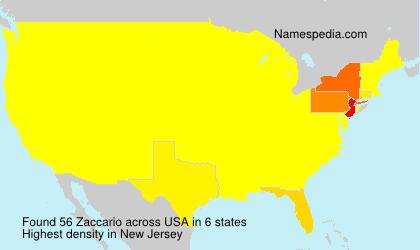 Surname Zaccario in USA